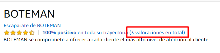 Como se ven las reviews en un canal de Amazon